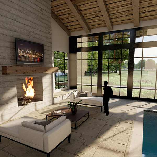 3d rendering home stone and masonry