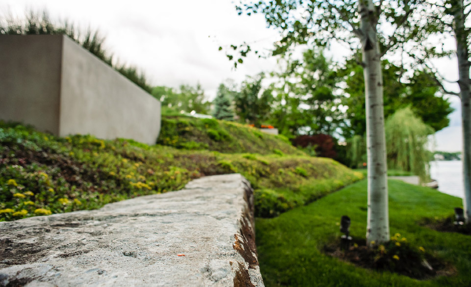 Landscaping stone and flowers by OEG